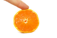 The cut orange Stock Photos