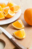 Cut orange Royalty Free Stock Photos
