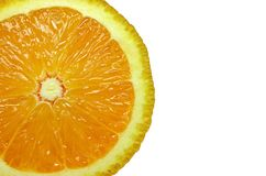 Cut Orange Royalty Free Stock Photography