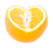 The cut orange Royalty Free Stock Photography
