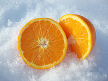 Cut orange Stock Image