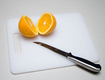 Cut orange Stock Photography