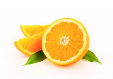 Cut orange fruit Royalty Free Stock Image
