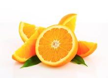 Cut orange fruit Stock Photos