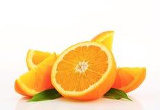Cut orange fruit Royalty Free Stock Photography