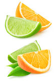 cut orange and lime Royalty Free Stock Photo