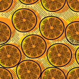 Cut orange seamless pattern Stock Photo