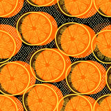 Cut orange seamless pattern royalty free stock photos