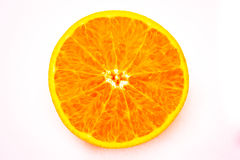 Cut orange on a white background. Cut orange on a white background,food Stock Photos