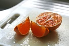 Cut oranges Royalty Free Stock Image