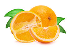 The cut oranges Royalty Free Stock Images
