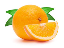 The cut oranges Royalty Free Stock Photography