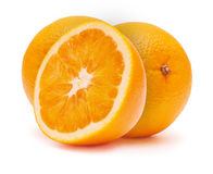 The cut oranges Stock Image