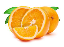 The cut oranges Royalty Free Stock Photo