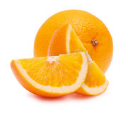 The cut oranges Royalty Free Stock Photos