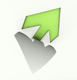 Cut out arrow green Stock Images