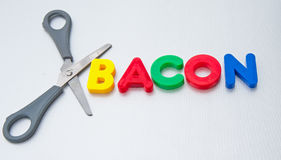 Cut out bacon Stock Images