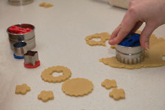 Cut out biscuits Stock Images
