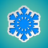 Cut out christmas snowflake Stock Photography
