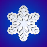 Cut out christmas snowflake Stock Photo