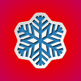 Cut out christmas snowflake Stock Image