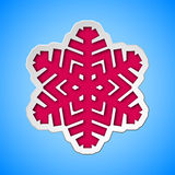 Cut out christmas snowflake Royalty Free Stock Photography