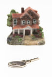 Cut out of a classic miniature house Royalty Free Stock Photos