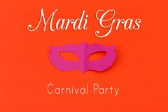 Cut out colored paper figures for the holiday Mardi Gras royalty free stock image
