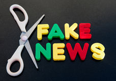 Cut out fake news Royalty Free Stock Photography