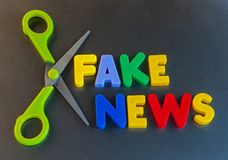 Cut out fake news Stock Images