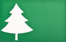 Christmas tree. Cut out of green paper Christmas tree royalty free stock images
