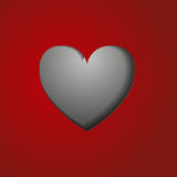The cut-out heart Royalty Free Stock Images