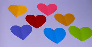 Cut out hearts on white. Royalty Free Stock Images
