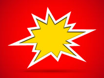 Cut out hole bang sign. On red background Royalty Free Stock Photo