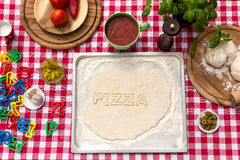 Cut out letters with dough Royalty Free Stock Photography