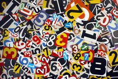 Cut out numbers Royalty Free Stock Photography