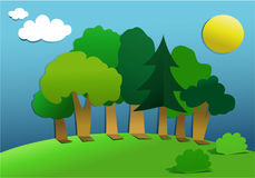 Cut out paper forest. Group of cut out paper trees Royalty Free Stock Photo