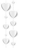 Cut out paper hearts background Royalty Free Stock Photo
