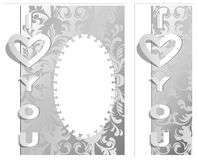 The cut out from the paper I love you. (Vector Royalty Free Stock Image
