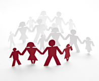 Cut out paper people Royalty Free Stock Photography