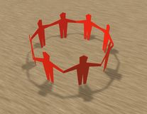 Cut out people together team and community idea. Stock Image