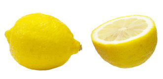 Cut out picture of lemons Royalty Free Stock Images