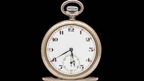 Cut out pocket watch timelapse stock video footage