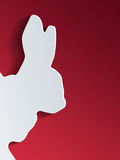 Cut out rabbit head shape on side of background Stock Photo