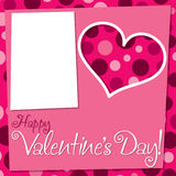 Cut out retro Valentine's Day card Royalty Free Stock Images