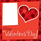 Cut out retro Valentine's Day card Royalty Free Stock Photo