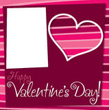 Cut out retro Valentine's Day card Royalty Free Stock Photography