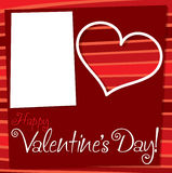 Cut out retro Valentine's Day card Stock Image