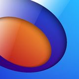 Cut out shiny blue and orange circle shapes Stock Images