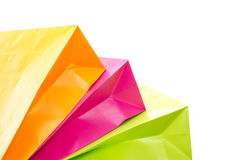 Cut-out of shopping bags. Cut-out of some colorful shopping bags Royalty Free Stock Photos